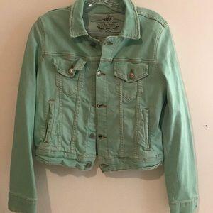 Free people distressed Jean jacket - Sz S